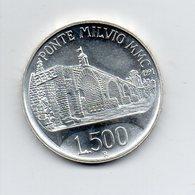 """ITALIA - 1991 - 500 Lire FDC """"210 Anni Dell'Edificazione Di Ponte Milvio - Argento 835 - Peso 15 Grammi - (MW2200) - 1946-… : Repubblica"""