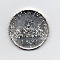 """ITALIA - 1959 - 500 Lire """"Caravelle"""" - Argento 835 - Peso 11 Grammi - (MW2201) - 1946-… : Repubblica"""