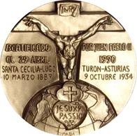 MEDALLA BEATIFICACIÓN INOCENCIO CANOURA ARNAU. MISIONERO Y MÁRTIR PASIONISTA. 1.990. C/CAJA. ESPAGNE. SPAIN MEDAL - Profesionales/De Sociedad