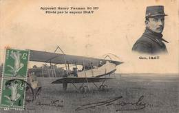 CPA Appareil Henry Farman 80 HP Piloté Par Le Sapeur IRAT - Aviatori
