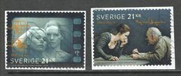 Zweden, Yv 3209-10 Jaar 2018,  Reeks, Hoge Waarden,  Gestempeld Op Papier - Schweden