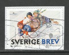 Zweden, Yv 3221 Jaar 2018,  Gestempeld Op Papier - Schweden