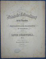 CAF CONC CLASSIQUE POLOGNE PIANO GF PARTITION XIX XAVER SCHARWENKA POLNISCHE NATIONALTANZE COMTESSE ANNA KALCKREUTH 1871 - Sonstige