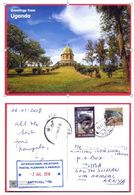 SOUTH SUDAN UGANDA 2018 Postcard Received At Juba Post Office From Uganda Ouganda Südsudan Soudan Du Sud - Südsudan