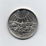 """ITALIA - 1965 - 500 Lire """"Dante Alighieri"""" - Argento 835 - Peso 11 Grammi - (MW2204) - 1946-… : Repubblica"""