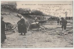 17 - CHATELAILLON - LA PLAGE RAVAGEE PAR LA GRANDE MAREE 1912 - Châtelaillon-Plage
