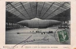 """CPA LE """" LEBAUDY """" DANS LA GALERIE DES MACHINES - Airships"""