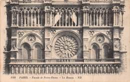 Carte Postale Photo PARIS (75) Cathédrale Notre-Dame La Rosace (Eglise-Religion) - Eglises