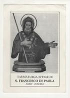 Santino Antico San Francesco Di Paola Da Forio D'Ischia - Napoli - Religion & Esotérisme