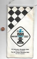 Flag Pennant Chess Olympiaad 1990 29 In Novi Sad Yugoslavia - Sports