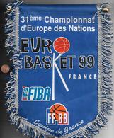 Flag Pennant France Basket Ball 1999 31 Europa Championnat FIBA - Sport