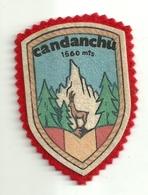 """3266 """" CANDANCHU """" TOPPA-PATCH -VETTA E CAMOSCIO TRA I PINI - ORIGINALE - Altri"""