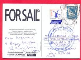 SOUTH SUDAN 2018 Postcard Received At Juba Post Office From The Netherlands Südsudan Soudan Du Sud - Südsudan
