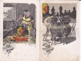 Lot De 2 C.p.: Souvenir De L'Escalade De Genève 1602 - Signées Gantner - - GE Genève