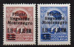 MONTENEGRO : B031  -  1944 German Occup. : 2 Mint Pieces  -  Sassone € 60 - Montenegro