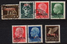 MONTENEGRO : B034  -  1941 Italian Occup. : 7 Used Pieces  -  Sassone 45 - Montenegro