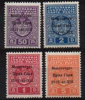 MONTENEGRO : B035  -  1941 Italian Occup. : MNH P. Due  -  Sassone 330 - Montenegro