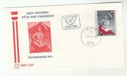 1977 Austria FDC SACRIFICES For FREEDOM Stamps Cover Flag - FDC