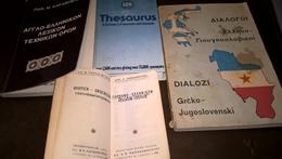 4 DIFFERENT DICTIONARIES: 1.= DEUTSCH-GRIECHISCH (ΓΕΡΜΑΝΟ-ΕΛΛΗΝΙΚΟΝ) - Εκδ. ΑΣΤΗΡ (1960) - 600pgs (9x5,50cent) 2.- Thesa - Woordenboeken