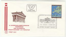 1978 Special FDC IPU PARLIAMENTARY CONFERENCE MAP  Stamps AUSTRIA Cover Parliament - FDC