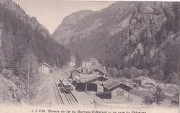 Chemin De Fer Du Martigny-Châtelard  La Gare Du Châtelard - VS Valais