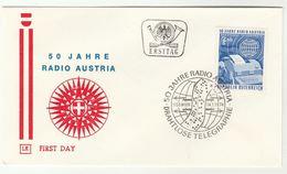 1974 Special FDC RADIO TELEGRAPH ANNIV  Cover Telecom AUSTRIA Stamps Telecom Broadcasting - Telecom