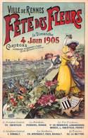 CPA VILLE DE RENNES FETE DES FLEURS Le Dimanche 4 JUIN 1905 - Künstlerkarten