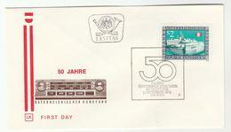 1974 Special FDC BROADCASTING ANNIV Cover AUSTRIA Stamps Radio - FDC