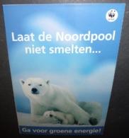 Carte Postale Double - Laat De Noordpool Niet Smelten... (ours Polaires) WWF Fonds Mondial Pour La Nature - Publicité