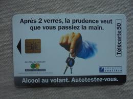 Télécarte 50 Unités Alcool Au Volant Sécurité Routière 08/96 - Télécartes