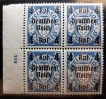 DR Mi. 717 PF I Und HAN 634 Postfrisch Im 4er Block, Plattenfehler I = Langer Anstrich Der Linken 3 (909) - Ungebraucht