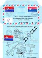 Aérogramme Bicentenaire De La Révolution 3 Cachets Philatéliques Différents Le Bourget 38e Salon Aéronautique Et Espace - Postal Stamped Stationery