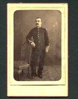 Fotografia Antiga MILITAR C/dedicatoria. Photographo T.A.PACHECO Bragança. Old Cabinet Photo PORTUGAL 1885 - Photos