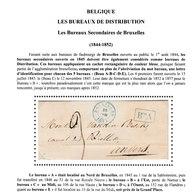 BRUXELLES Marque Du Beau A - 26/3/1847 Vers ANVERS Taxe 3 SUPERBE - 1830-1849 (Belgique Indépendante)
