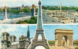 PARIS -CATHEDRALE  NOTRE-DAME. MULTIVUES - Notre Dame De Paris