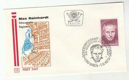 1973 Special FDC Max REINHARDT Stamps AUSTRIA Cover THEATRE Music - Theatre