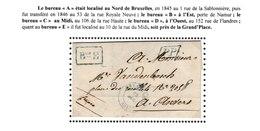 BRUXELLES Marque Du Beau E - 12/12/18478 Vers ANVERS - Rare PORT PAYE /PP/ SUPERBE - 1830-1849 (Belgique Indépendante)