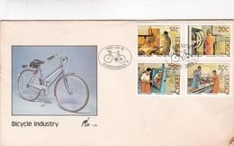 BICYCLE INDUSTRI. SPC OBLITEREE 1986 KWADIMBAZA, CISKEI - BLEUP - Ciskei