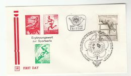 1978 Special FDC MILITARY SPORT PENTATHLON  Stamps AUSTRIA Cover Forces - FDC