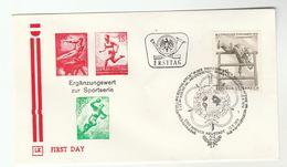 1978 Special FDC MILITARY SPORT PENTATHLON  Stamps AUSTRIA Cover Forces - Militaria