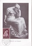 MAILLOL(LA DOULEUR-CARD OBLITEREE 1960 NEDERLAND - BLEUP - Scultura