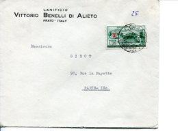 """Repubblica (1954) - Busta Con 25 Lire """"Touring Club"""" In Tariffa Ridotta Per La Francia - 6. 1946-.. Repubblica"""