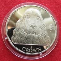 Gibraltar 1 Crown 1992 Cocker Spaniel Dog - Gibilterra