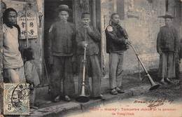CPA TONKIN - Monçay - Trompettes Chinois De La Garnison De Tong-Hinh - Viêt-Nam