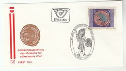 1978 Special FDC ETHNOLOGY MUSEUM , WILD ANIMAL Stamps AUSTRIA Cover Costume Ethnic Costume - FDC
