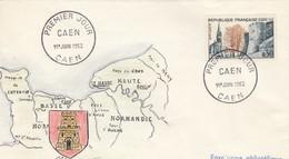 FDC UNIQUE. PEINTE A LA MAIN. 1963. CAEN NORMANDIE - Ohne Zuordnung