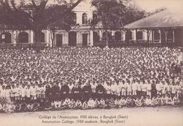 Post Card> Siam  Bangkok Collège De L'Assomption 1500 élèves    Missions Etrangères  TBE NO PAYPAL - Thailand