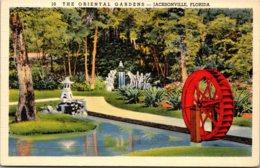 Florida Jacksonville The Oriental Gardens 1946 Curteich - Jacksonville