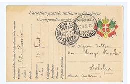 CARTOLINA POSTALE ITALIANA IN FRANCHIGIA - UFFICIO POSTA MILITARE 21 DIVIS. - PER SOLOFRA ( AVELLNO ) 1916 ( 3214 ) - Guerra 1914-18
