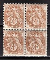 FRANCE 1900 - BLOC DE 4 TP / Y.T. N° 110  - NEUFS** - France